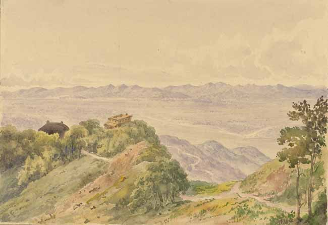 Rare Old Water Painting of Mussoorie